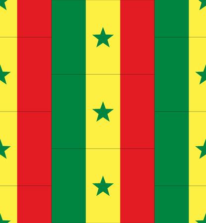 senegal: Flag Senegal texture vector illustration