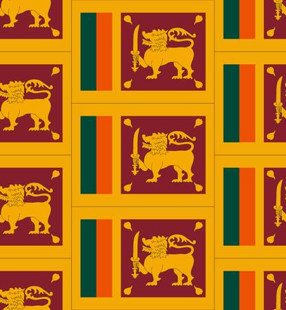 sri: Flag Sri Lanka texture vector illustration Illustration
