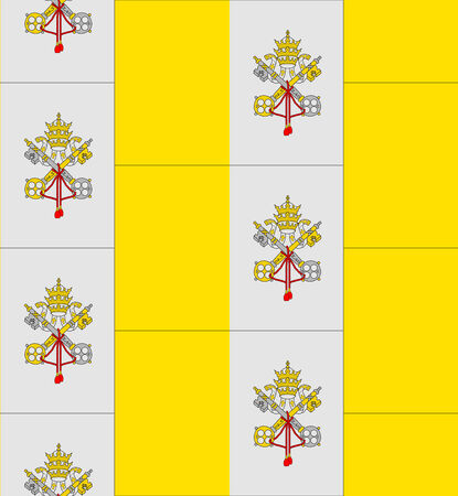 vatican city: Flag Vatican City texture vector illustration Illustration