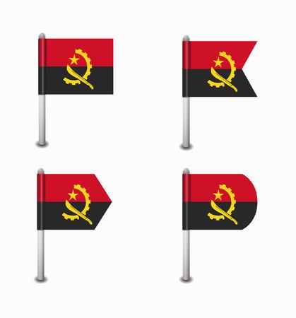 angola: design set of four flags Angola
