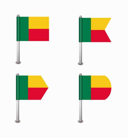 design set of four flags Benin