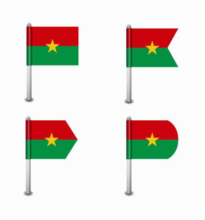 design set of four flags Burkina Faso Vector