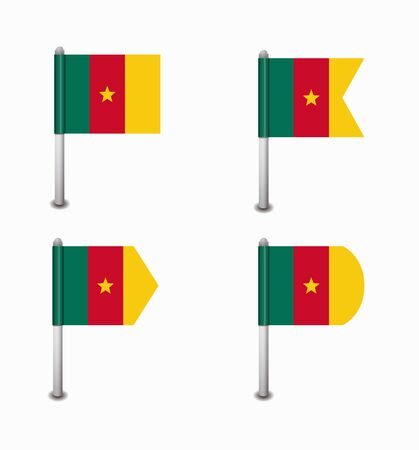 design set of four flags Cameroon