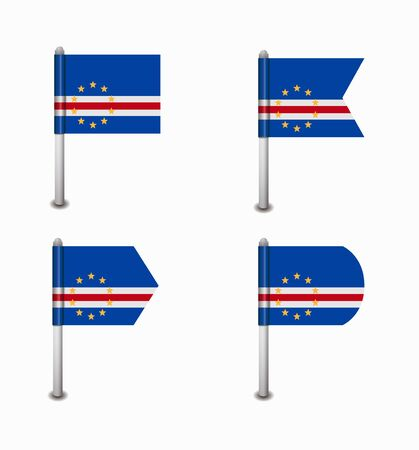 verde: design set of four flags Cape Verde
