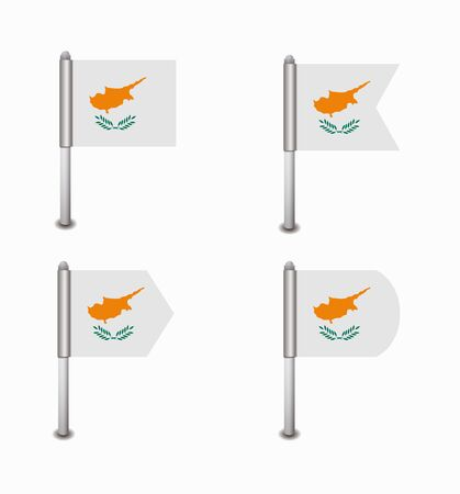 cyprus: design set of four flags Cyprus