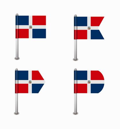dominican republic: design set of four flags Dominican Republic Illustration