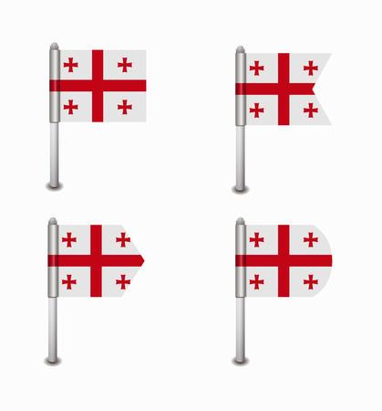 design set of four flags Georgia