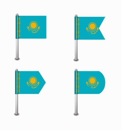 kazakhstan: design set of four flags Kazakhstan