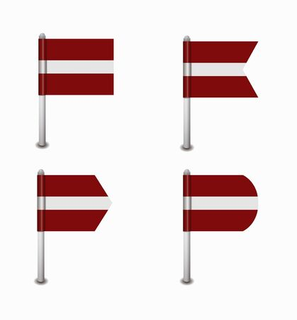 design set of four flags Latvia