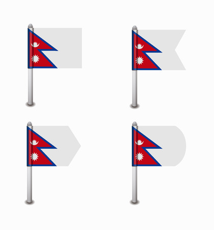 nepal: design set of four flags Nepal