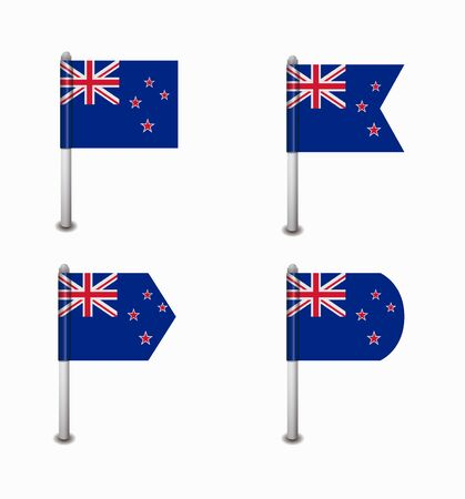 design set of four flags New Zealand