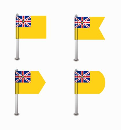 niue: design set of four flags Niue Illustration