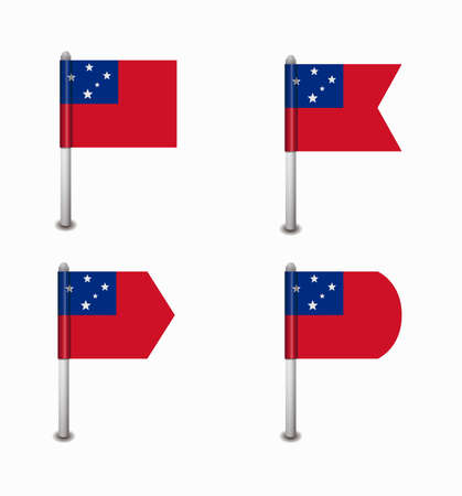 samoa: design set of four flags Samoa Illustration