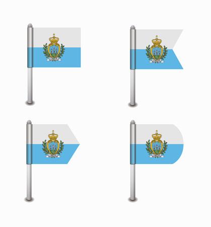 san marino: design set of four flags San Marino Illustration