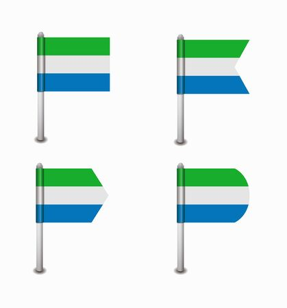 sierra leone: design set of four flags Sierra leone
