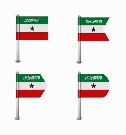 somaliland: design set of four flags Somaliland