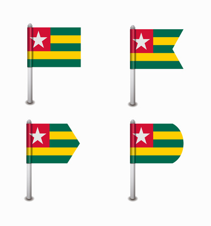 togo: design set of four flags Togo