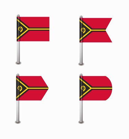 vanuatu: design set of four flags Vanuatu