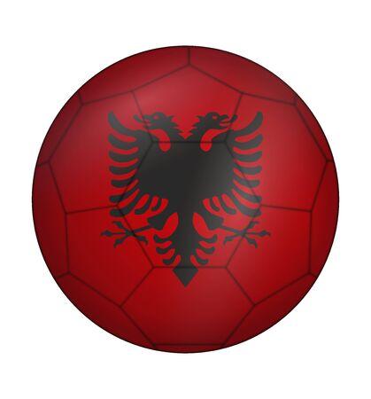 albanie: conception ballon de football drapeau de l'Albanie