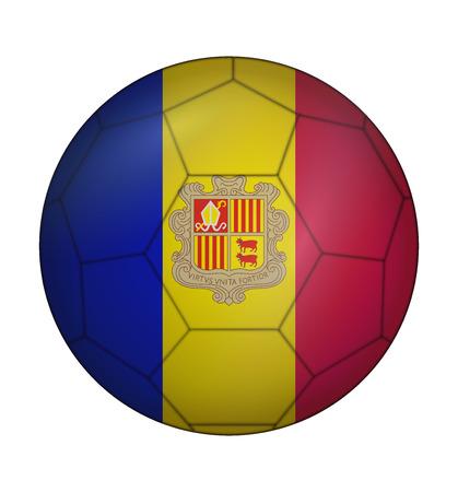 design soccer ball flag of Andorra