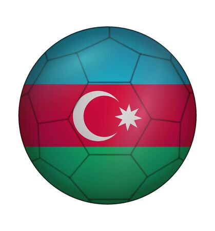 design soccer ball flag of Azerbaijan