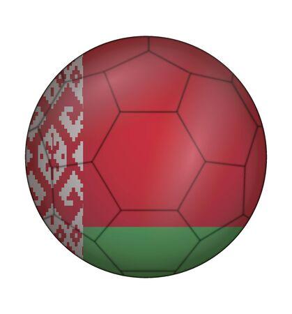 design soccer ball flag of Belarus