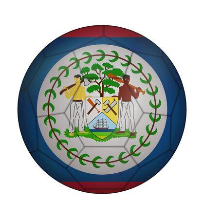 belize: design soccer ball flag of Belize