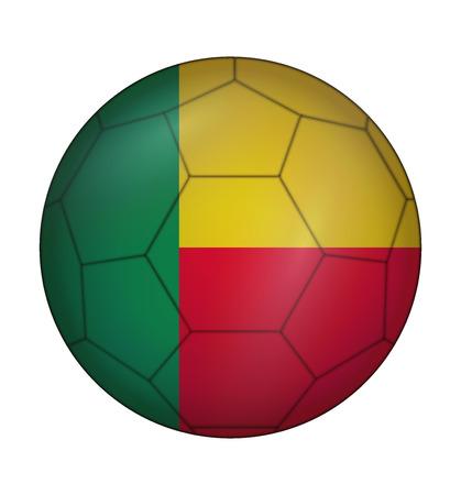 design soccer ball flag of Benin Illustration
