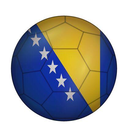 design soccer ball flag of Bosnia and Herzegovina