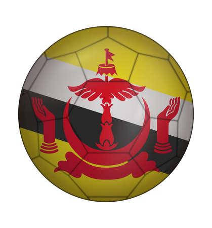 design soccer ball flag of Brunei
