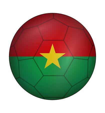 design soccer ball flag of Burkina Faso