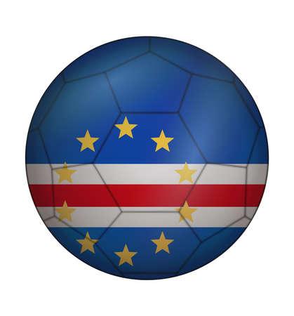 design soccer ball flag of Cape Verde Illustration
