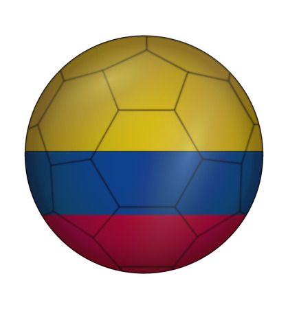 design soccer ball flag of Colombia