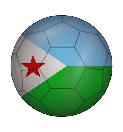 design soccer ball flag of Djibouti