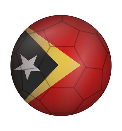 east: design soccer ball flag of East Timor