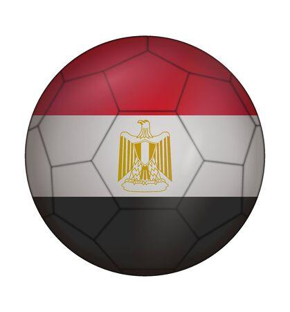 design soccer ball flag of Egypt