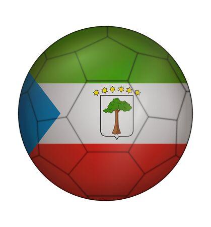 design soccer ball flag of Equatorial Guinea