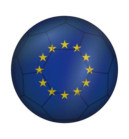 design soccer ball flag of European Union Illustration