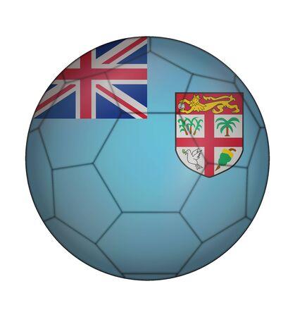 fiji: ontwerp voetbal vlag van Fiji