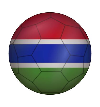 design soccer ball flag of Gambia