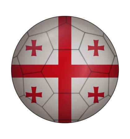 design soccer ball flag of Georgia Illustration