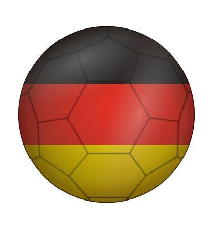 design soccer ball flag of Germany