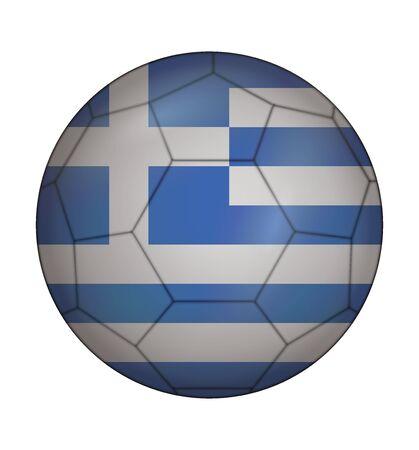 design soccer ball flag of Greece Illustration