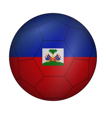 design soccer ball flag of Haiti