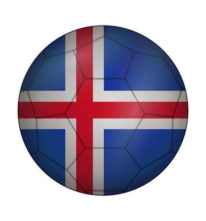 design soccer ball flag of Iceland Illustration