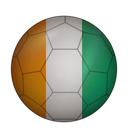 design soccer ball flag of Ivory Coast
