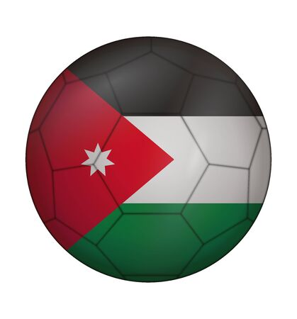 design soccer ball flag of Jordan