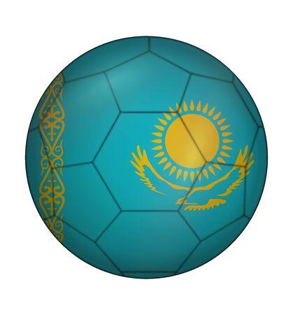 kazakhstan: design soccer ball flag of Kazakhstan