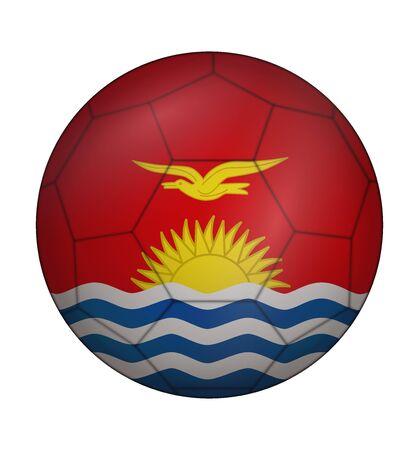 kiribati: design soccer ball flag of Kiribati Illustration
