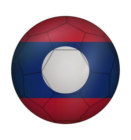 laos: design soccer ball flag of Laos
